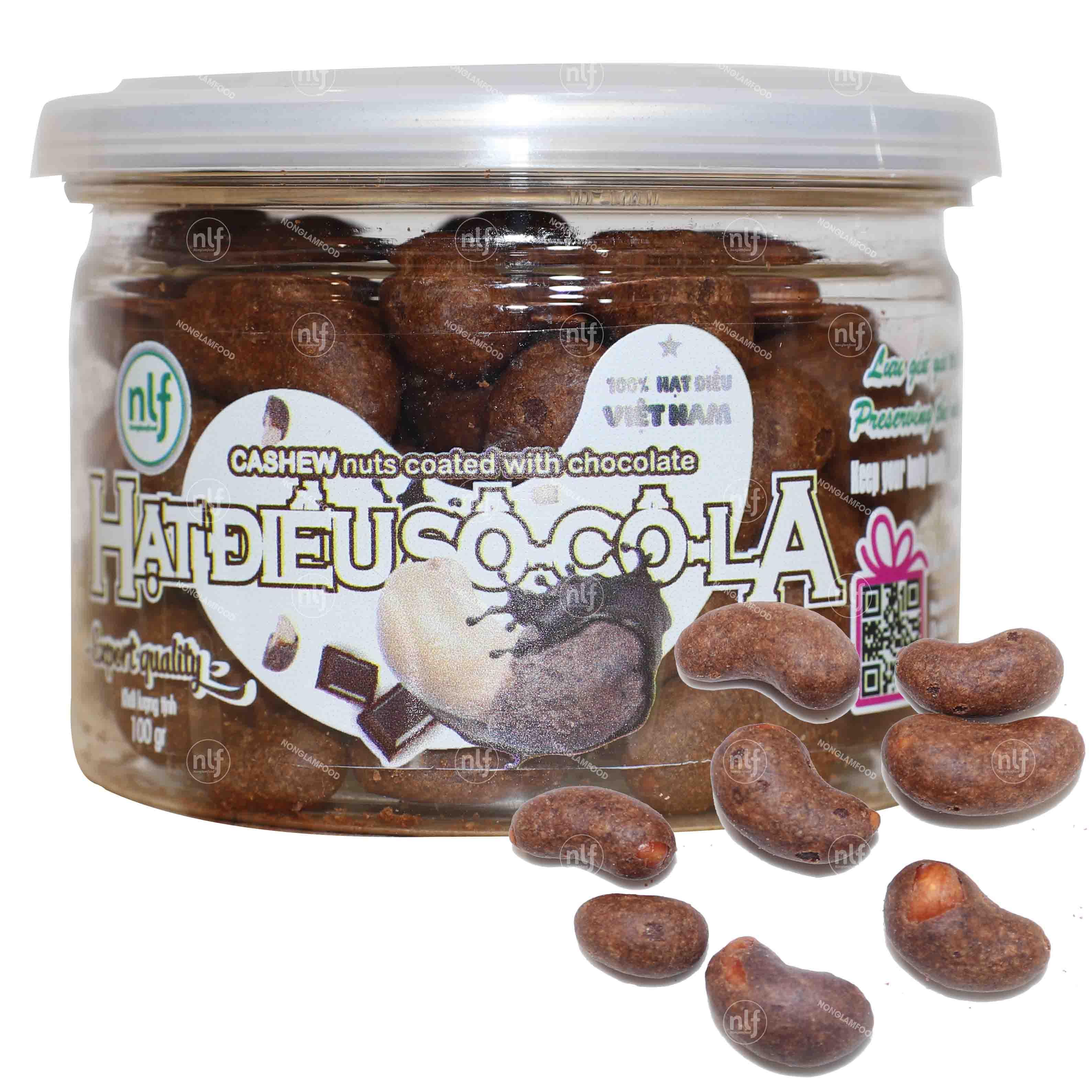 Hạt điều phủ sô-cô-la hộp 100g