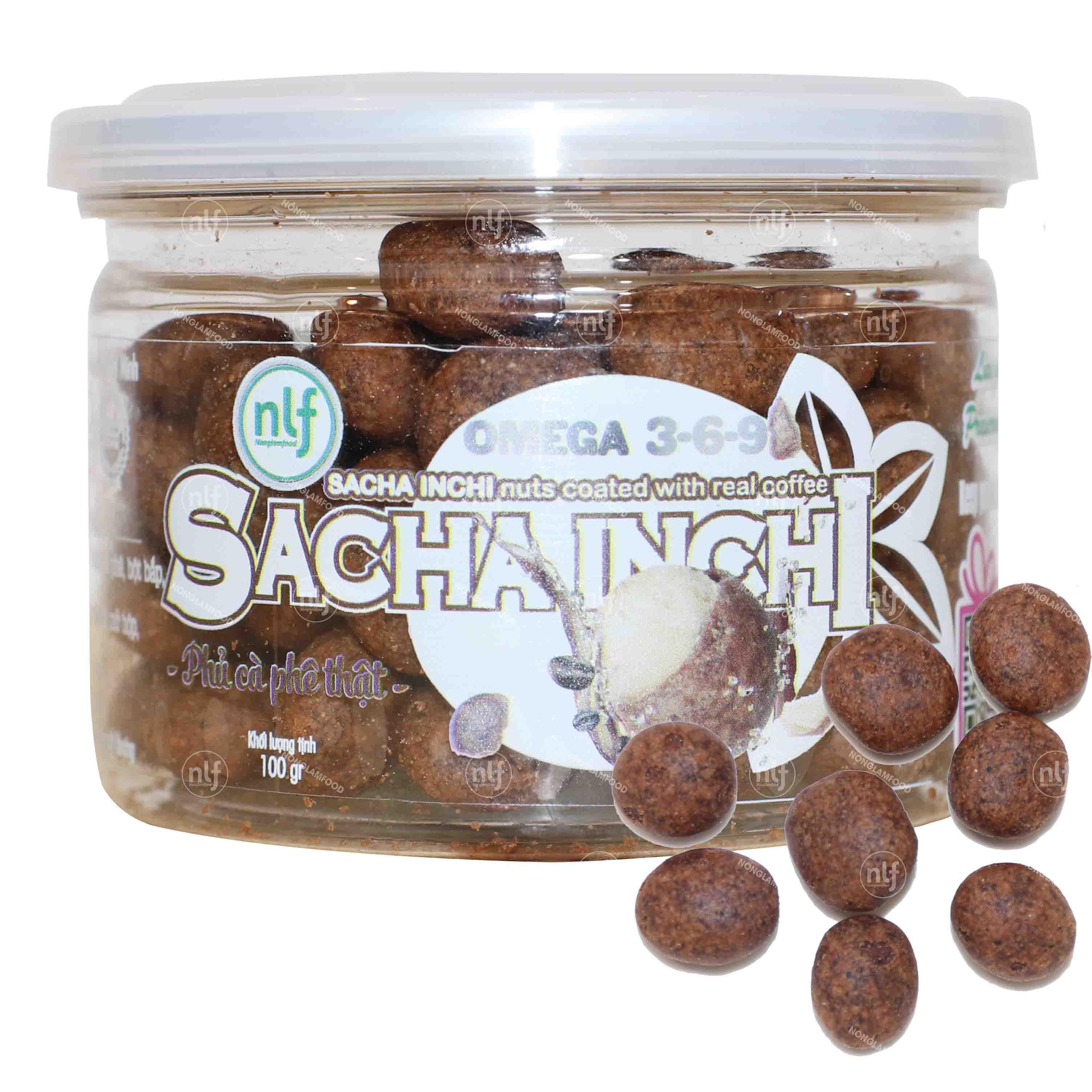 Hạt Sacha Inchi phủ cà phê 100g