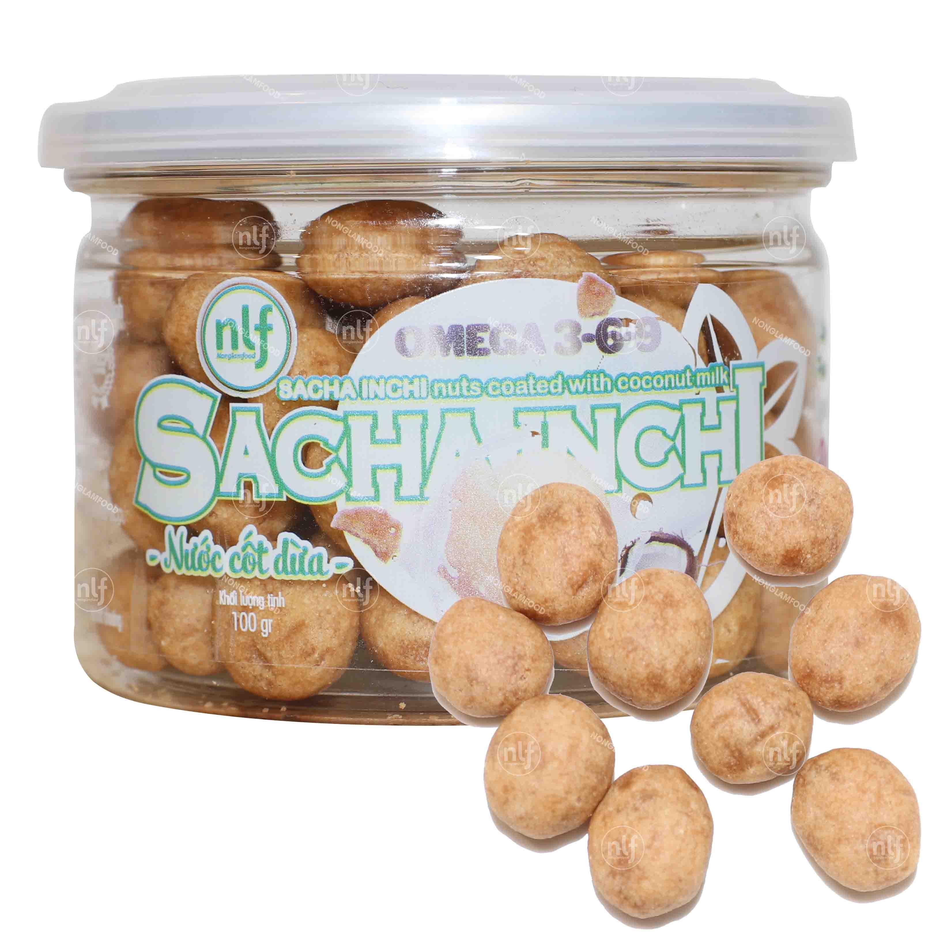 Hạt Sacha Inchi nước cốt dừa 100g