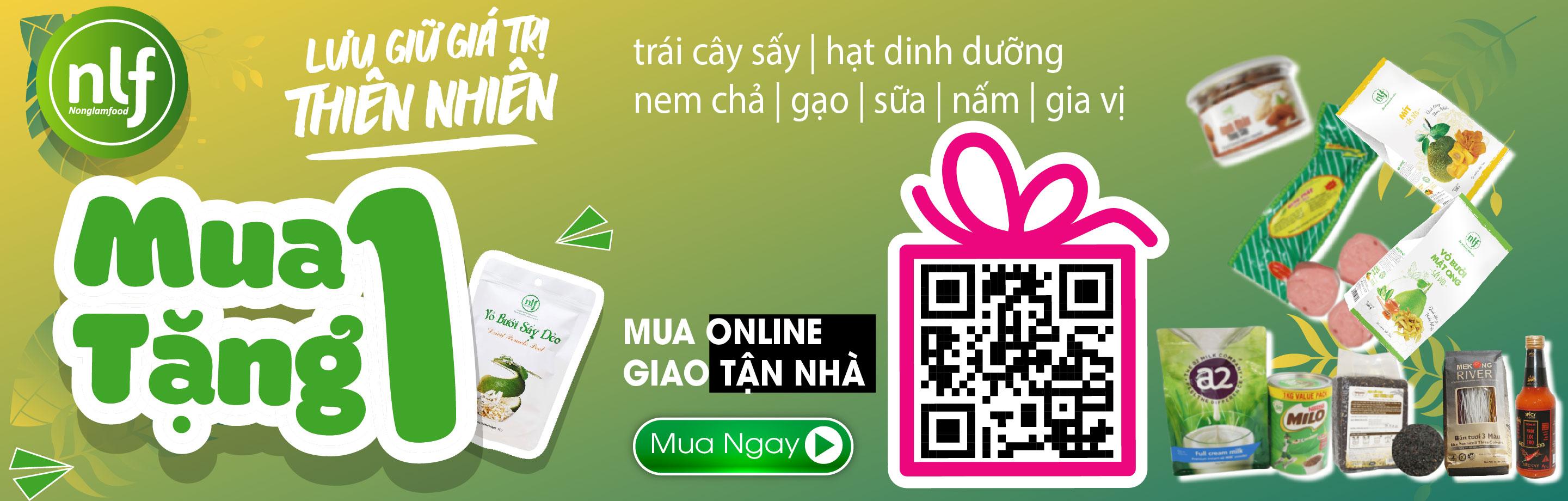 Trái cây sấy   hạt dinh dưỡng   gạo   bún   bánh tráng   nem chả   sữa   gia vị - mua 1 tặng 1 -  mua online giao tận nhà